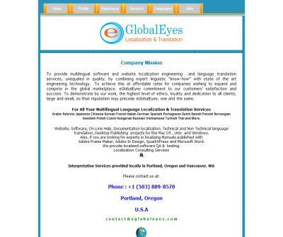 eGlobalEyes Translation & Localization Services in Portland, Oregon USA.