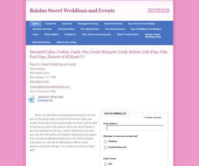 Raisin's Sweet Weddings & Events