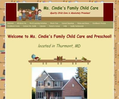 Ms. Cindie's Family Childcare - Welcome