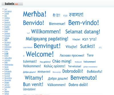 BabeLx - all dictionaries online