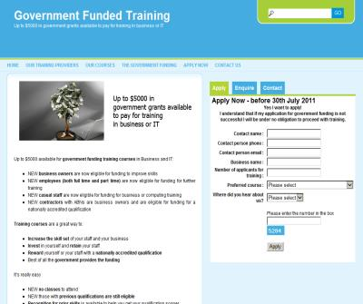 Government Funded Training