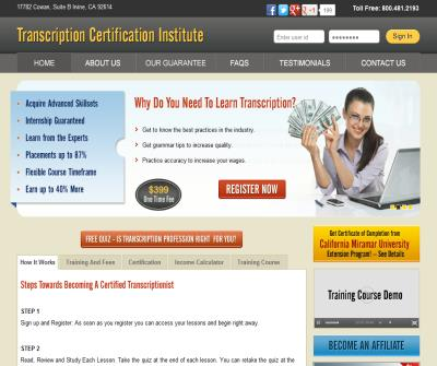 Become Certified General Transcriptionist from Transcription Certification InstituteTranscription Index
