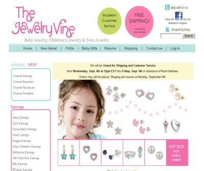 Buy Baby Earrings, children's earrings, childrens necklaces, baby  bracelets, and more. Buy children's jewelry from the Jewelry Vine.