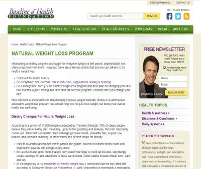 Natural Weight Loss Program: Healthy Weight Management & Weight Control