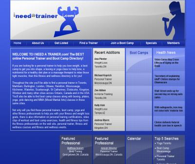 I Need A Trainer - Personal Trainer, Yoga & Boot Camp Directory
