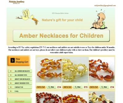 Baltic amber teething necklace shop