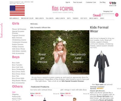 kids formal wear - kids formal wear is pleased to bring you boys tuxedos, boys suits, flower girl dresses, heirloom dresses, pageant dresses, communion dresses, Christening dresses and party dresses.