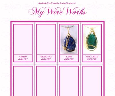 MyWireWorks - Unique Handmade Wire Wrapped Jewelry Pieces