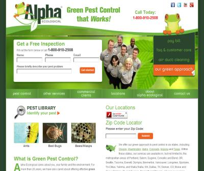 Alpha Ecological | Green Pest Control Services | 1-800 SAY FROG