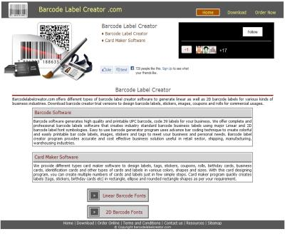 Barcode label creator software generate barcodes images maker design print stickers price tags