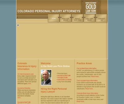 Colorado Insurance and Injury Attorney Greg Gold, Personal Injury, Insurance Bad Faith, and Wrongful Death Lawyer.