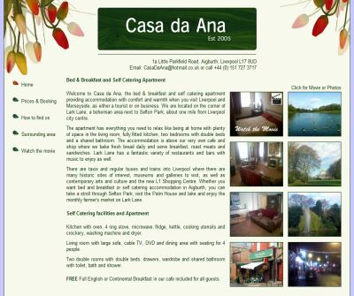 Self catering apartment | Lark Lane | Liverpool | Sefton Park | Casa da Ana