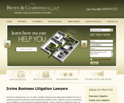 Brown & Charbonneau, LLP ~~ Welcome