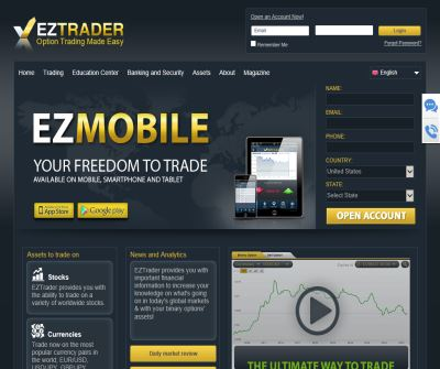 EZTrader.com, The Binary Options Trading Platform