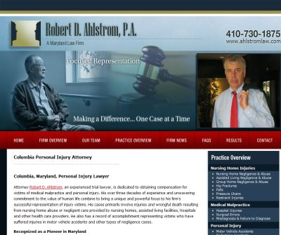Welcome | Robert D. Ahlstrom, PA |