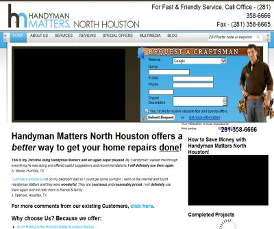 Handyman Matters Kingwood / N. Houston - Reliable, Professional Handyman Services.