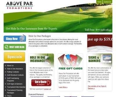 Hole In One Insurance - Golf Contest Coverage | Above Par Promotions
