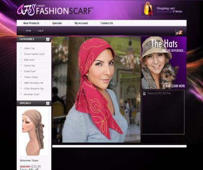 Cancer Gift Headwear and Scarves, Chemo Fashion Scarf™