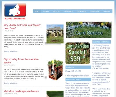 Lawn Care Services in Boise Idaho-All Pro Lawn Service