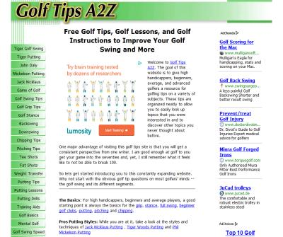 Golf Tips, Lessons, Instructions and Advice