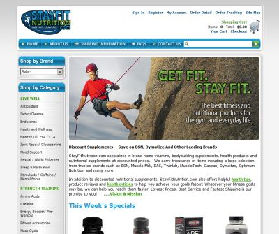 StayFitNutrition.com -  Get Fit. Stay Fit - Discount Supplements
