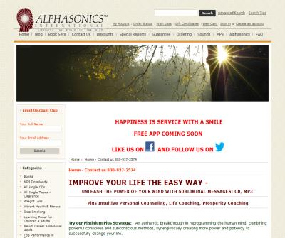 Alphasonics: Tools for Growth-Self Help Products