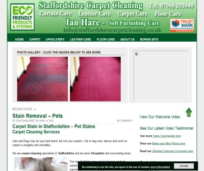 Carpet and upholstery cleaning in Wolverhampton, Shifnal and Telford.  Jones of Church Eaton