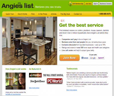 Angies List Find a Local Handyman, Home Improvement Expert, Customer Reviews.