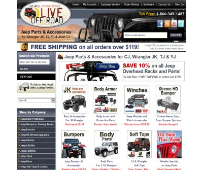 Live Offroad - CJ and Wrangler Parts & Accessories