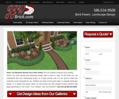 Landscape Design and Brick Paving Michigan
