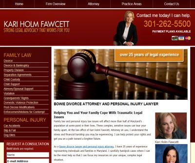 Bowie Maryland MD Family Law Divorce Lawyer | Personal Injury Car Accident Attorney