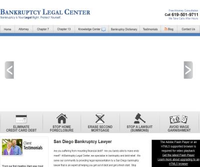 BANKRUPTCY LEGAL CENTER - SAN DIEGO BANKRUPTCY LAWYER - BANKRUPTCY ATTORNEY