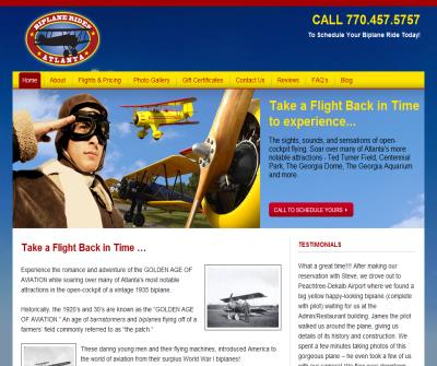 Biplane rides in Atlanta sightseeing tours
