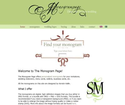 The Monogram Page - Personalized monograms for your wedding invitations