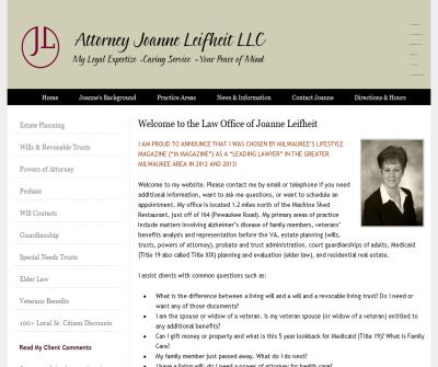 Attorney Joanne Leifheit (Licensed since 1996)