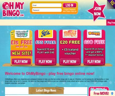 Oh My Bingo - UK bingo comparison site with exclusive free bingo offers - OhMyBingo.com