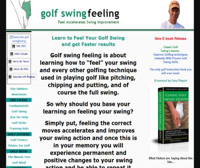 Golf Swing Feeling The Hidden Fundamental
