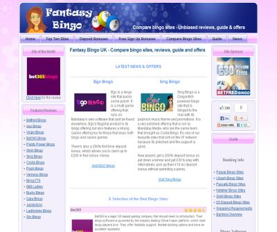 Fantasy Bingo UK - Online bingo ratings and reviews