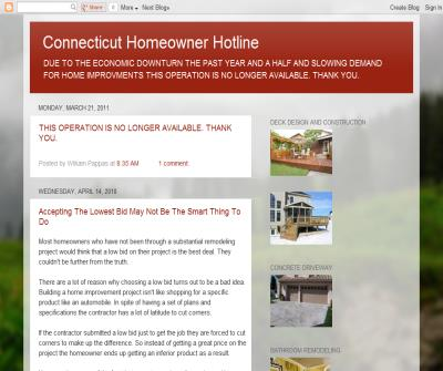 Connecticut Homeowner Hotline