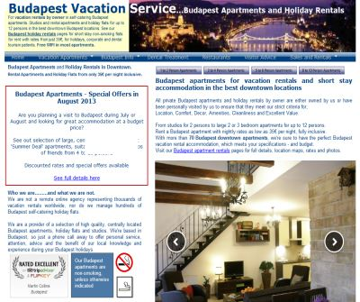 Budapest Vacation Apartments in Best Downtown Locations