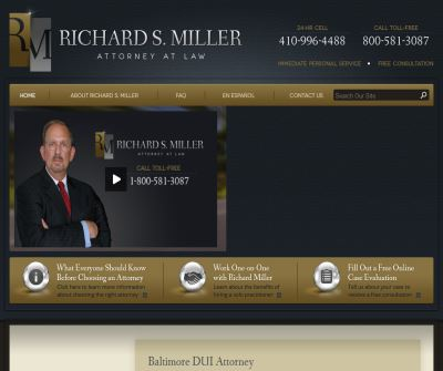 Baltimore DUI Lawyer, Richard S. Miller