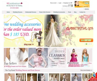 Buy Discount Wedding Dresses, Bridesmaid Gowns and Accessories