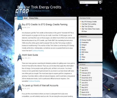 A Blog Sharing the Experience of Playing Star Trek Online