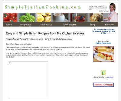 Simple and Easy Italian Recipes