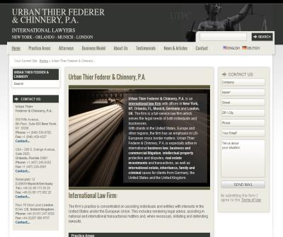 German American Law Firm Urban Thier Federer & Jackson, P.A.