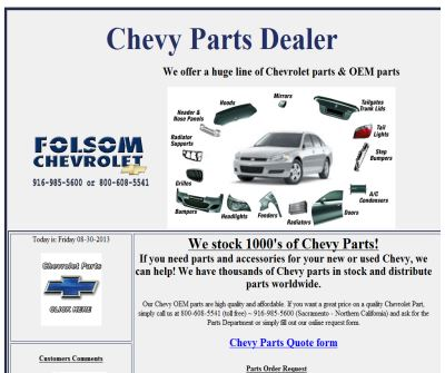 Chevy Parts Dealer