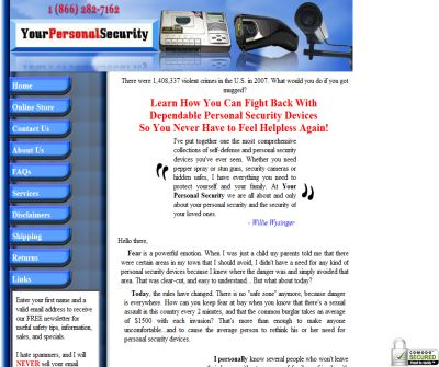 Personal Security, Home Defense, Self Defense Weapons