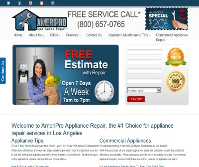 Appliance Repair Los Angeles | Washer | Dryer | Stove | Air Conditioning | Refrigerator | Heater