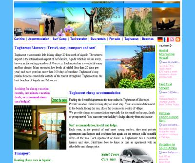 Taghazout morocco Rental: car hire, Apartment, surf camp, transfer with taxi and minbus. cheaper accommodation in agadir