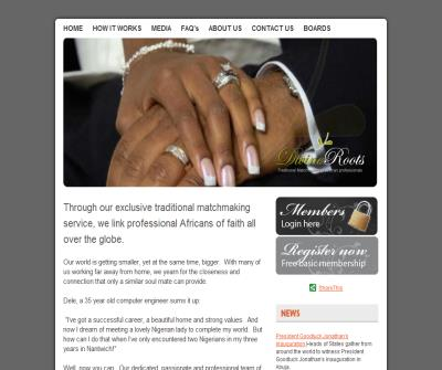 Exclusive traditional matchmaking service for african professionals